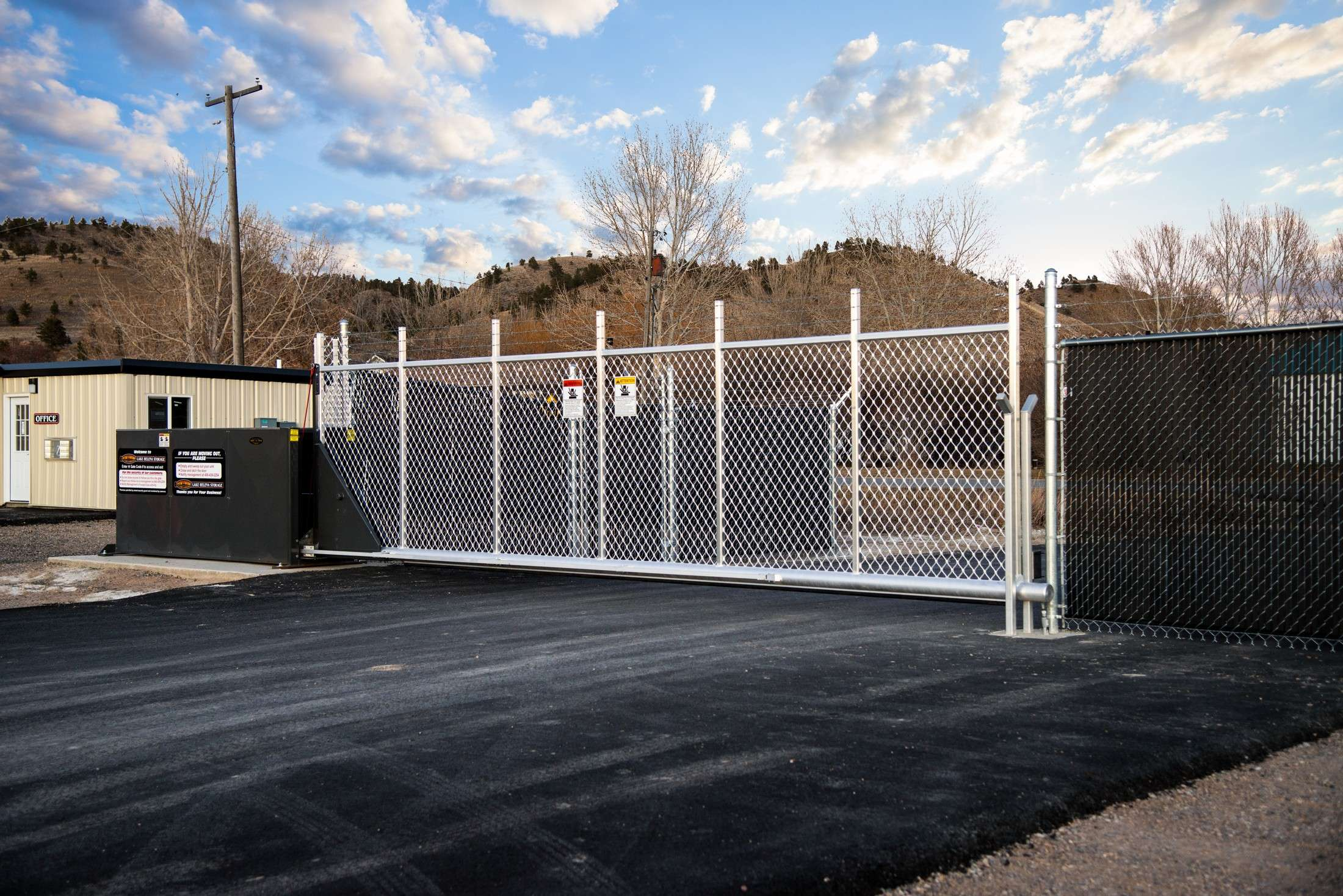 Secure Gated Self Storage Facility